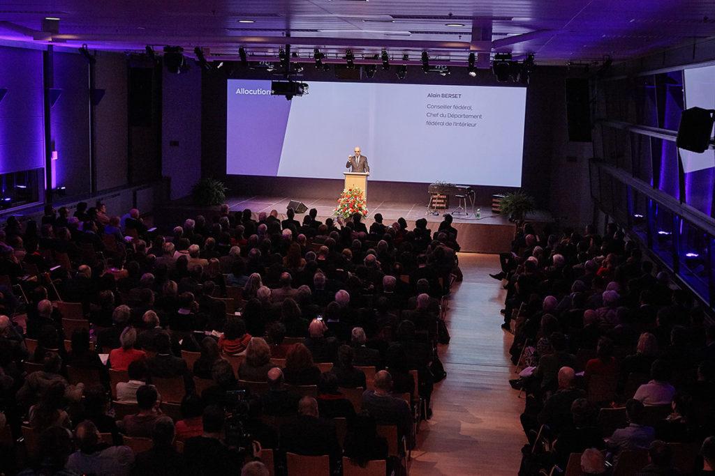 Eröffnung Kulturerbejahr 2018 im Eventforum in Bern.